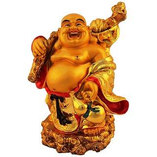 Aica feng shui laughing buddha happy man vastu showpeace-1