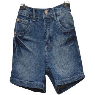 Titrit  Black Denim Shorts For Boys