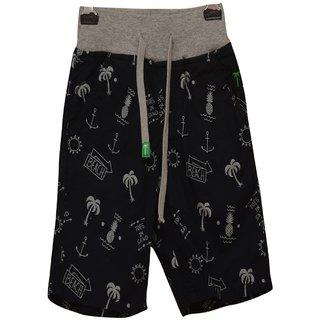 Titrit Grey White  Printed Shorts For Boys