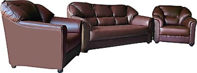 Brilliant Westido Solid Wood 3 1 1 Brown Sofa Set Inzonedesignstudio Interior Chair Design Inzonedesignstudiocom