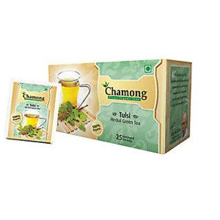 Chamong Tulsi Herbal Green Tea (25 TEA BAGS)