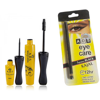 ADS1608 Waterproof Eyeliner / Mascara / Eye Care Kajal