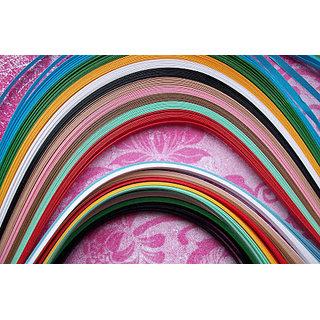 Multicolour Quilling Paper Strips 1500 nos ( 3,5,7 mm Each 500 nos)