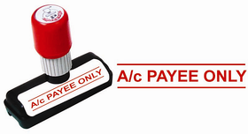 Presto Self Ink A/c PAYEE ONLY  Size  48x9 mm, Colour  Red Rubber Stamp