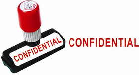 Presto Self Ink CONFIDENTIAL  Size  48x9 mm, Colour  Red Rubber Stamp