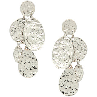 Stoln Silver Silver Plated Dangle Earrings For Women