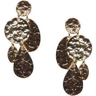 Stoln Gold Gold Plated Dangle Earrings For Women