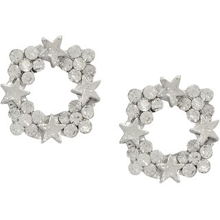 Stoln Silver Silver Plated Women Studs