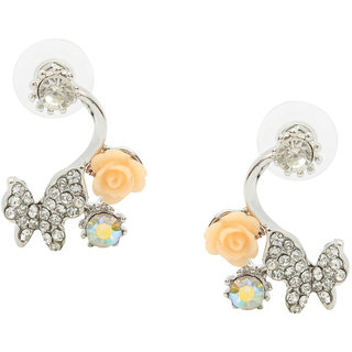 Stoln Silver Color Silver Plated Studs For Women
