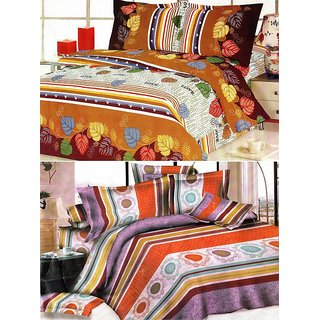 ShopSince Floral Double Bedsheet Set of 2