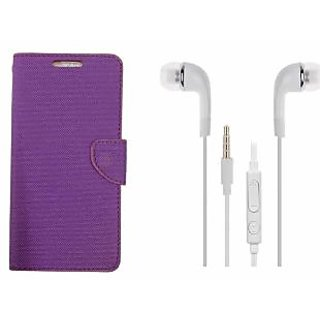 Synthetic leather Flip Cover Premium Quality with headphone White For LeTv Le2