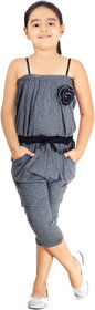 Naughty Ninos Cotton Jumpsuit in Grey Melange