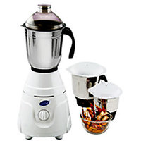 GLEN GL 4021 550 W Mixer Grinder- White, 3 Jars