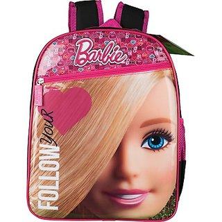 Barbie School Bag (Black, Pink, 18 inch) 8901736086394