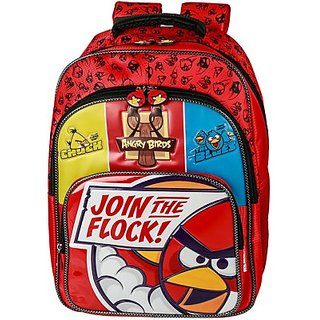 Angry Birds Join the Flock Backpack (Red, 16 inch) EI - AB0074