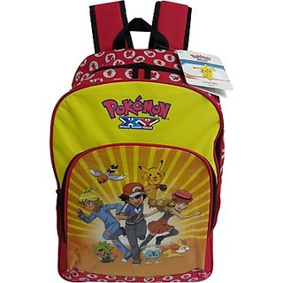 Pokemon Kids Bag Backpack (Yellow, 18 inch) EI-POK006