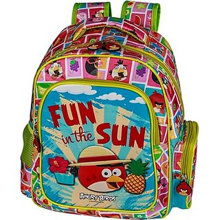 Angry Birds Fun in the Sun School Bag (Multicolor, 16 inch) AB0077