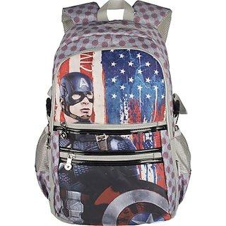 Captain America Waterproof Multipurpose Bag (Grey, 19 inch) 8901736088664