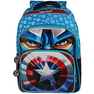 Disney Captain America School Bag (Blue, 18 inch) EI-WDP0083