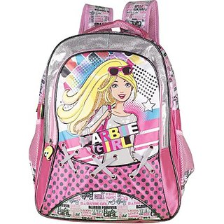 Barbie Waterproof School Bag (Multicolor, 16 inch) 8901736090346