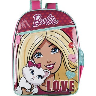Barbie Waterproof School Bag (Multicolor, 14 inch) 8901736086349