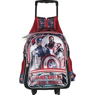 Captain America Waterproof School Bag (Multicolor, 16 inch) 8901736089722
