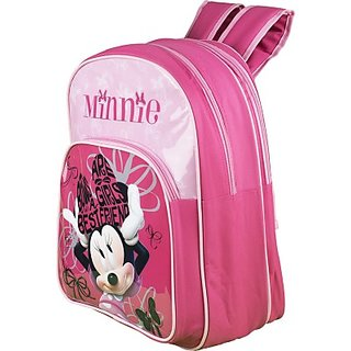Disney Waterproof School Bag (Pink, 16 inch) 8901736087421