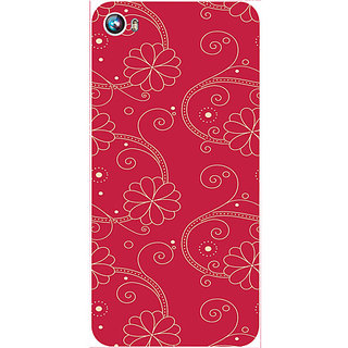 Casotec Floral Red White Design Hard Back Case Cover for Micromax Canvas Fire 4 A107