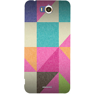 Casotec Pink Cyan Design Hard Back Case Cover for Infocus M530