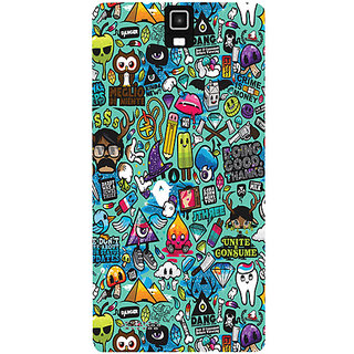 Casotec Crazy Design Hard Back Case Cover for Infocus M330