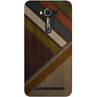 Casotec Wood Colorfull Pattern Design Hard Back Case Cover for Asus Zenfone 2 Laser ZE550KL