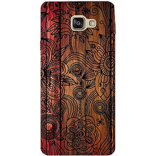Casotec Dark Wooden Background Design Hard Back Case Cover for Samsung Galaxy A7 (2016)