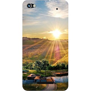 Casotec 3D Landscape Design Hard Back Case Cover for Micromax Canvas Hue 2 A316