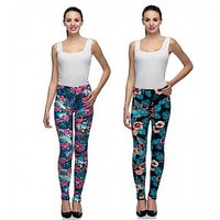 Tara Lifestyle Printed Stretchable Leggings for Womens (Pack of 2)-H
