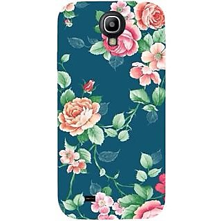 Casotec Vintage Floral Design Hard Back Case Cover for Samsung Galaxy S4 i9500