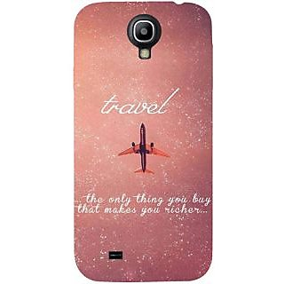 Casotec Travel Design Hard Back Case Cover for Samsung Galaxy S4 i9500
