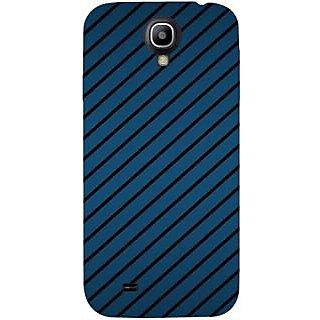 Casotec Blue Stripes Design Hard Back Case Cover for Samsung Galaxy S4 i9500