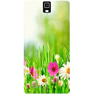 Casotec Spring Floral Pattern Design Hard Back Case Cover for Infocus M330