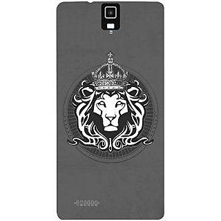 Casotec Lion King Design Hard Back Case Cover for Infocus M330