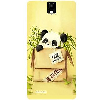 Casotec Panda In Box Design Hard Back Case Cover for Infocus M330