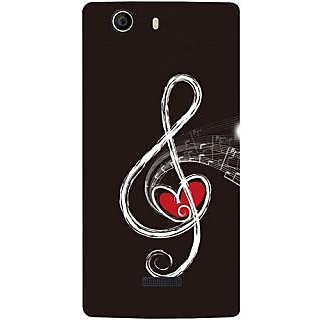 Casotec Love Note Music Design Hard Back Case Cover for Micromax Canvas Nitro 2 E311