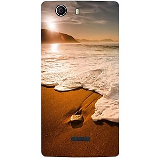 Casotec Sun Set Beach Design Hard Back Case Cover for Micromax Canvas Nitro 2 E311