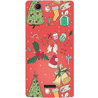 Casotec Santa Design Hard Back Case Cover for Micromax Canvas Nitro 2 E311