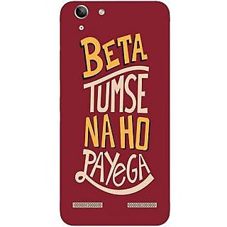 Casotec Funny Criticizing Design Hard Back Case Cover for Lenovo Vibe K5 Plus