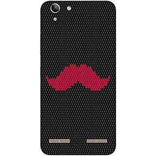 Casotec Pink Mustache Pattern Design Hard Back Case Cover for Lenovo Vibe K5 Plus