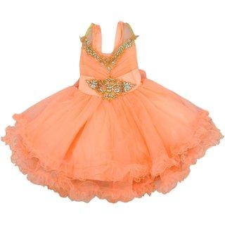 Titrit Peach Partywear Frock