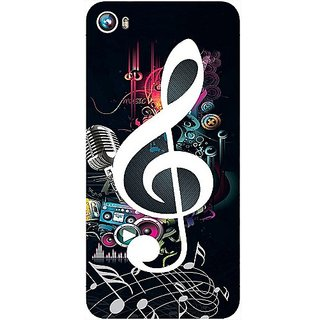 Casotec Music Design Hard Back Case Cover for Micromax Canvas Fire 4 A107