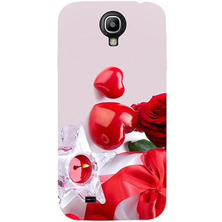 Casotec Valentines Day Gift Candle Heart Couple Rose Design Hard Back Case Cover for Samsung Galaxy S4 i9500
