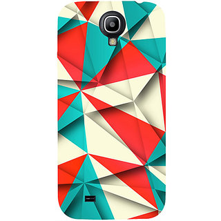 Casotec Red Blue White Pattern Design Hard Back Case Cover for Samsung Galaxy S4 i9500