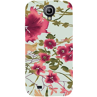 Casotec Flower Design Hard Back Case Cover for Samsung Galaxy S4 i9500